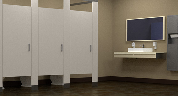 Bathroom Cubicles - Toilet Maintenance